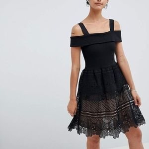 French Connection | ASOS Amelia Black Lace